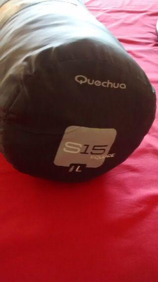 Saco de dormir de acampada Quechua S15 Square