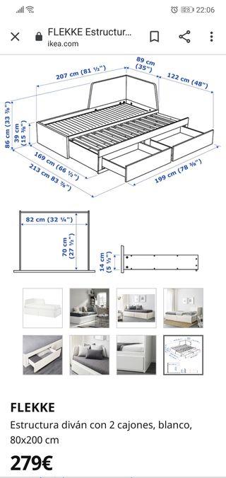 cama nido / matrimonio