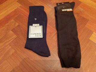 Calcetines altos de hilo Escocia color negro