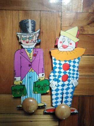 perchas de madera infantiles años 80