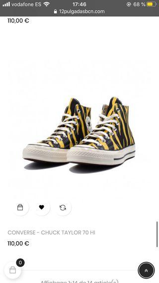 Converse zebra amarillo/negro high unisex