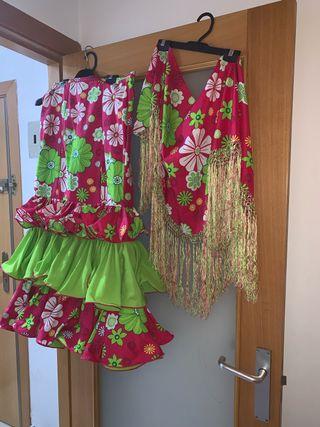 falda+manton de sevillana flamenca gitana