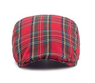 gorra tapa plana (flatcap) cuadros escoceses nueva
