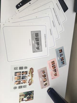 Princess Diana memorial stamp collection
