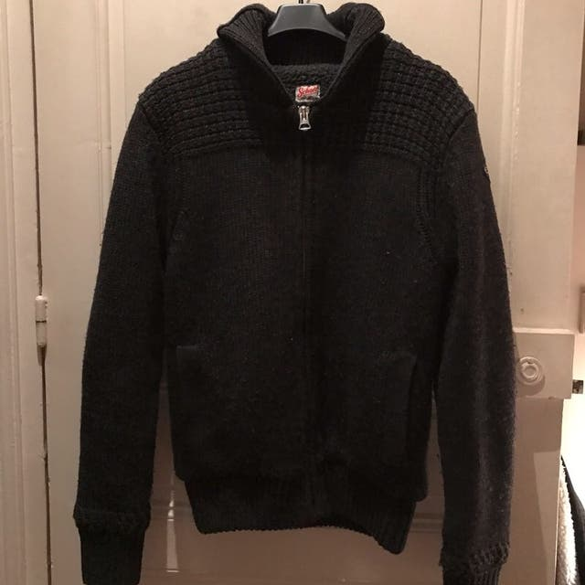 chaqueta Schott de lana