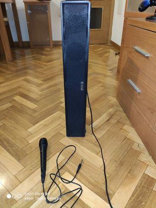 Barra de sonido + karaoke Innova led