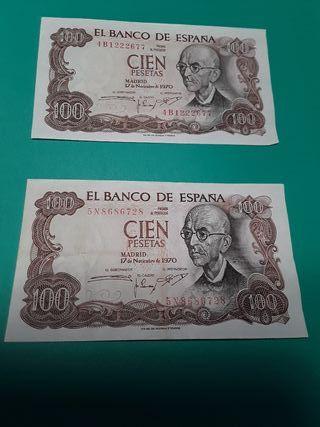 Billetes antiguos del Banco de España