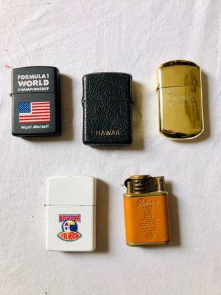Mini colección mecheros tipo zippo