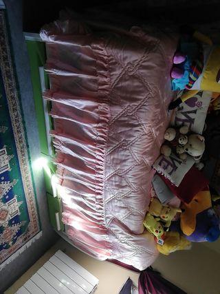 cama doble con cajones