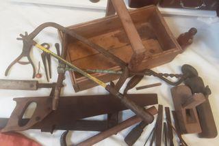 Caja herramientas de carpintero. Colección