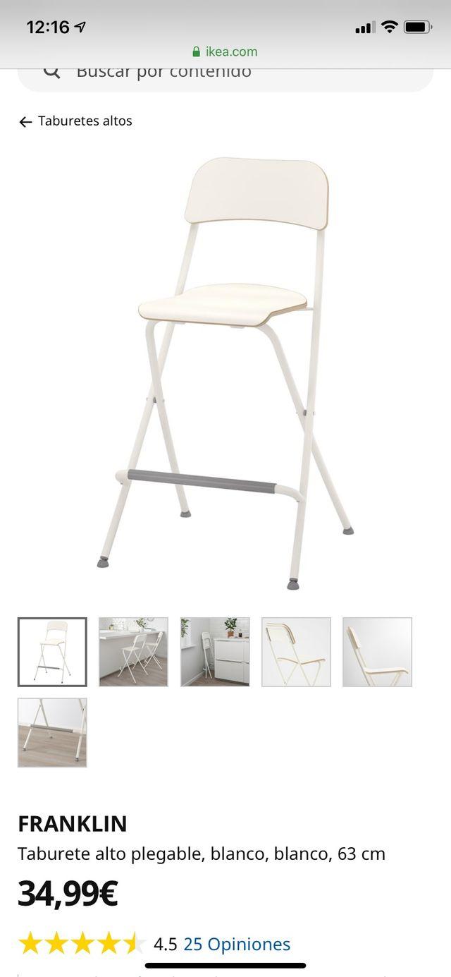 Taburete alto Franklin Ikea