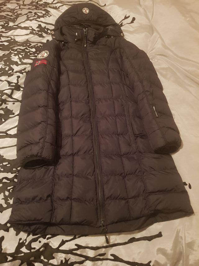 chaqueta larga impermeable de pluma de Oca norway