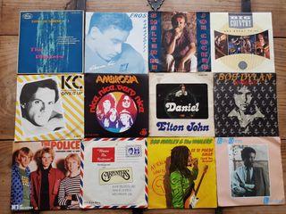 """Lote Colección 120 Vinilos Singles de 7"""""""