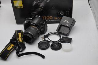 Nikon D3100 14,2MP obj 18-55DX VR con 25200 fotos,