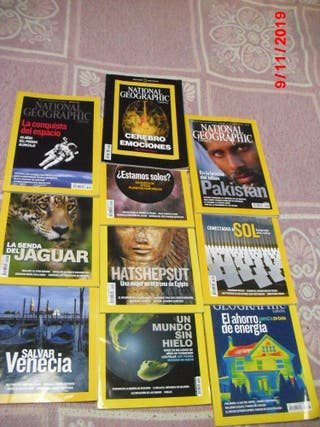 10 REVISTAS NATIONAL GEOGRAPHIC X 3€ TODAS