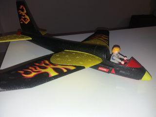 Avión de corcho de Playmobil