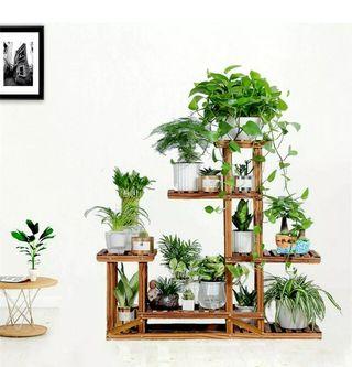 Stand wood planter organizer