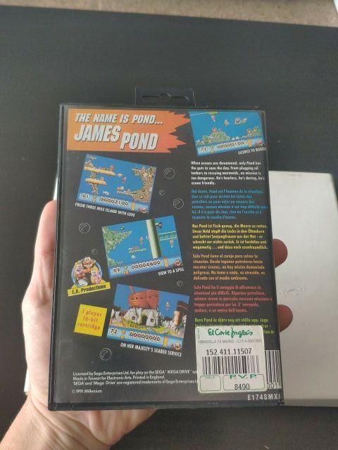 juego james pond de consola mega Drive