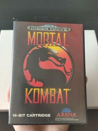 juego mortal kombat de consola mega Drive completo
