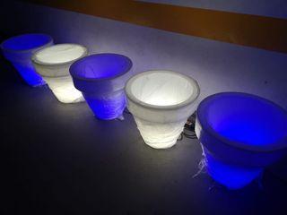Maceteros iluminados para exterior o interior