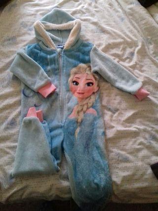 Pijama de una pieza de Frozen/Elsa. Niña 3 años
