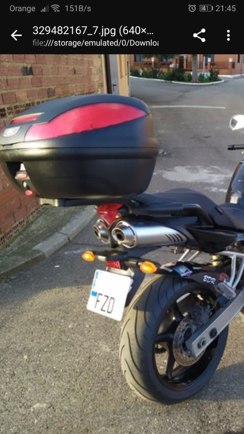 Baúl maleta y herrajes Yamaha original Fazer FZ6