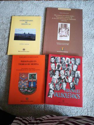 Cuatro libros de la historia de Valladolid
