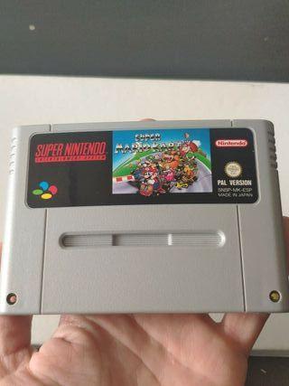 juego super Mario kart de super Nintendo