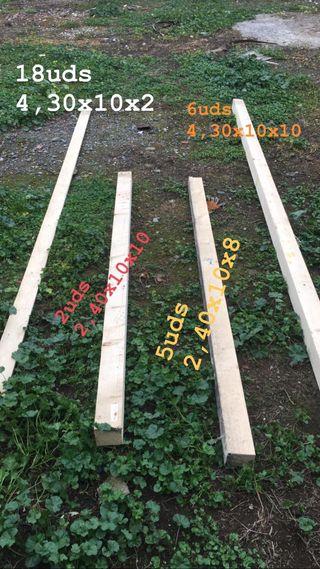 Vigas madera pergola porche techado