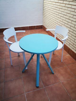 Conjunto de muebles de terraza Milán de aluminio