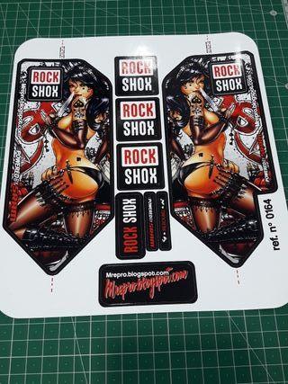 Rock Shox Adhesivos pegatinas horquilla mtb