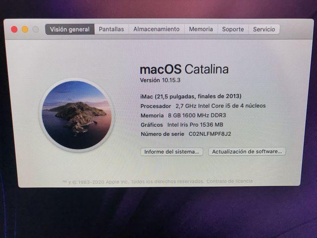IMac 21,5 i5 8Gb RAM 1Tb disco duro