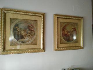 Conjunto cuadros diosa Venus y dios Helios