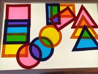 figuras geométricas para mesa de luz