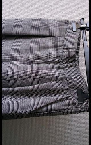 Pantalón ancho cuadros Talla S