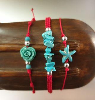 pulseras playa turquesa