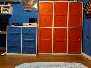 Armario y cajonera, cómoda infantil Ikea