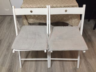 Sillas de madera blanca IKEA