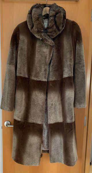 Abrigo de piel natural de chinchilla y visón
