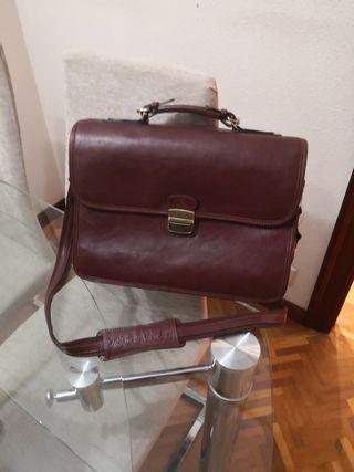 maletin de piel Hexagona