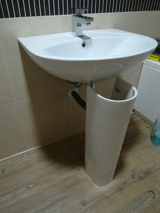 lavabo con pie porcelanosa
