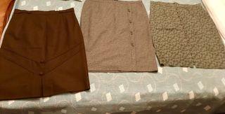 3 Faldas marrones