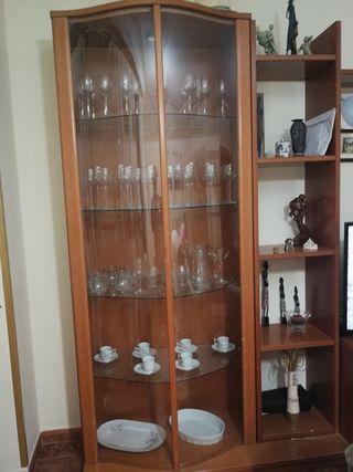 vitrina y estantería