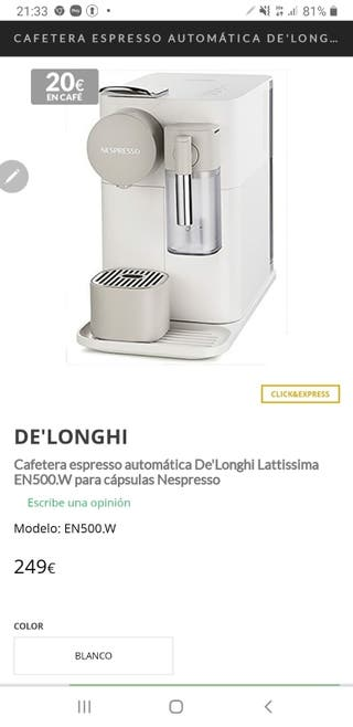 Cafetera espresso De'Longhi Lattissima