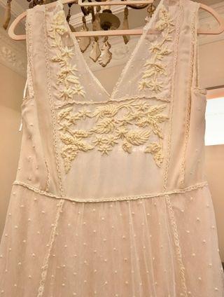 Vestido novia bohemio vintage Intropia Atelier