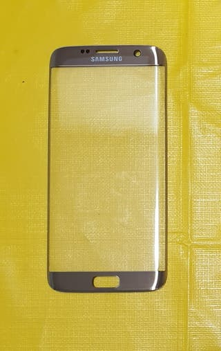 Cristal dorado delantero pantalla Samsung S7 Edge