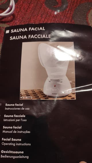 Sauna Facial+Instrucciones+Vaso con medidas