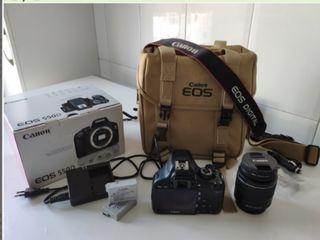CAMARA CANON EOS 550D + OBJETIVO 18-55