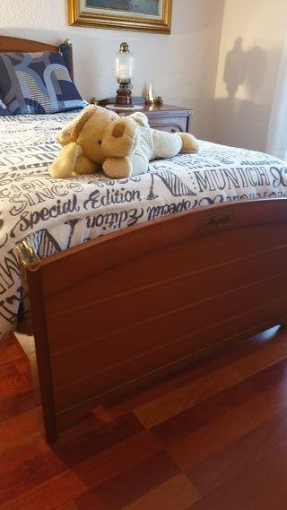 Cama juvenil motorizada con colchón muelles