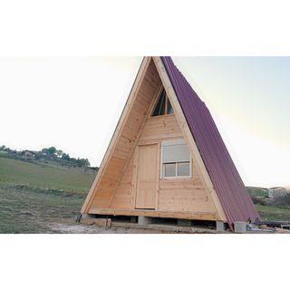 cabaña casa de madera alpina 36m2